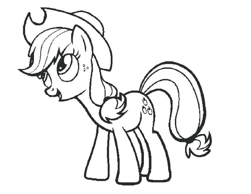Tải tranh tô màu Pony siêu đáng yêu dành cho bé | Ngựa pony 110