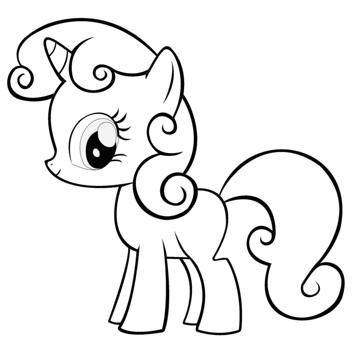 Tải tranh tô màu Pony siêu đáng yêu dành cho bé | Ngựa pony 111