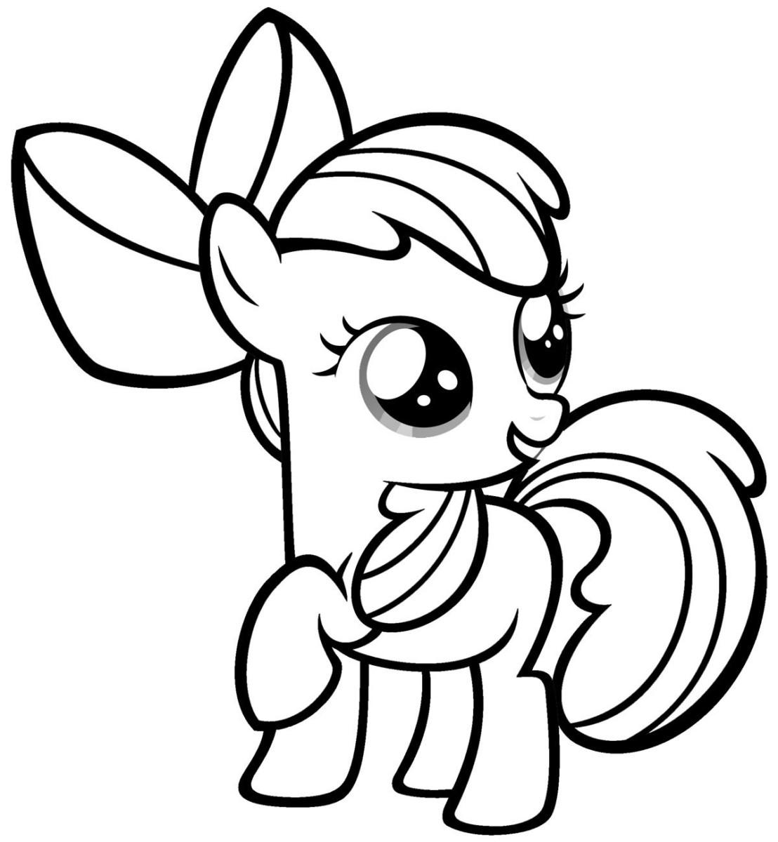 Tải tranh tô màu Pony siêu đáng yêu dành cho bé | Ngựa pony 112