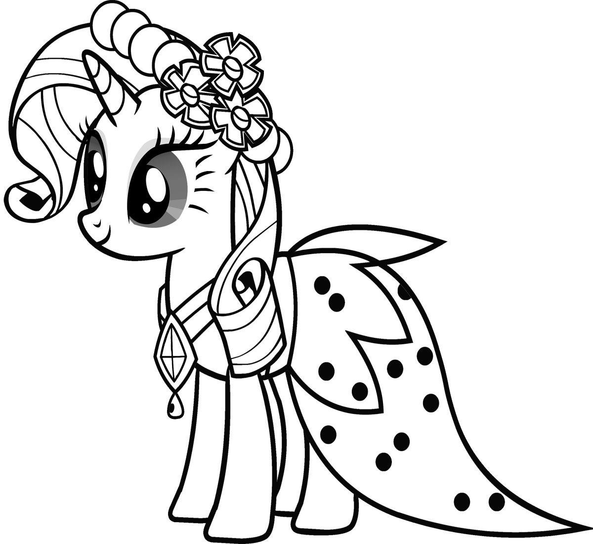 Tải tranh tô màu Pony siêu đáng yêu dành cho bé | Ngựa pony 87