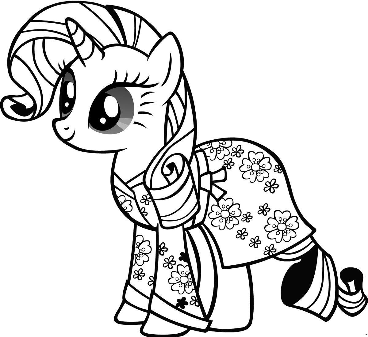 Tải tranh tô màu Pony siêu đáng yêu dành cho bé | Ngựa pony 115