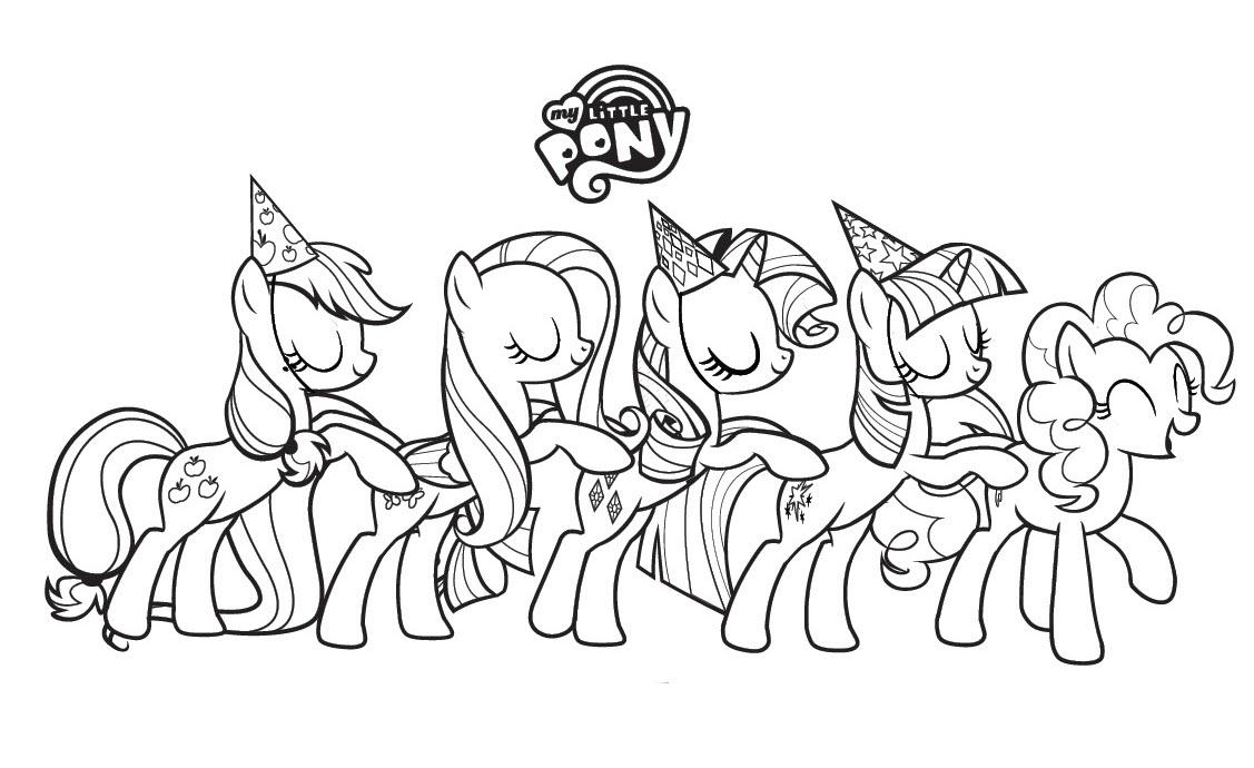 Tải tranh tô màu Pony siêu đáng yêu dành cho bé | Ngựa pony 119