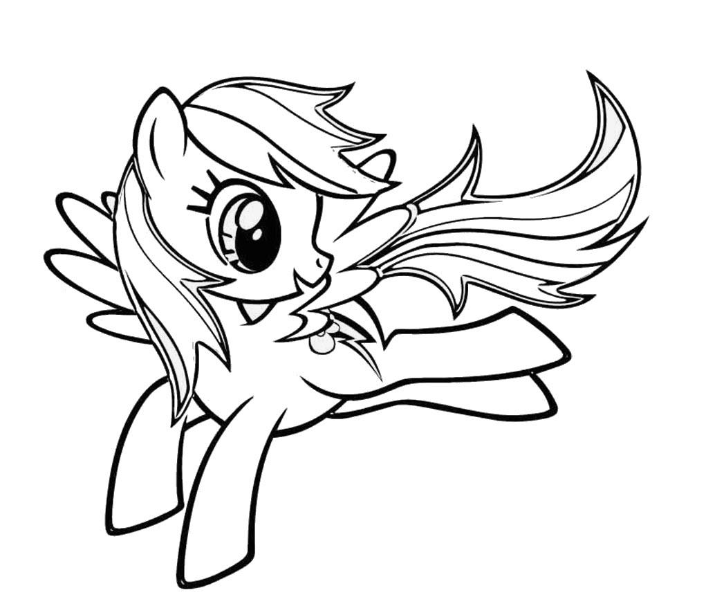Tải tranh tô màu Pony siêu đáng yêu dành cho bé | Ngựa pony 120