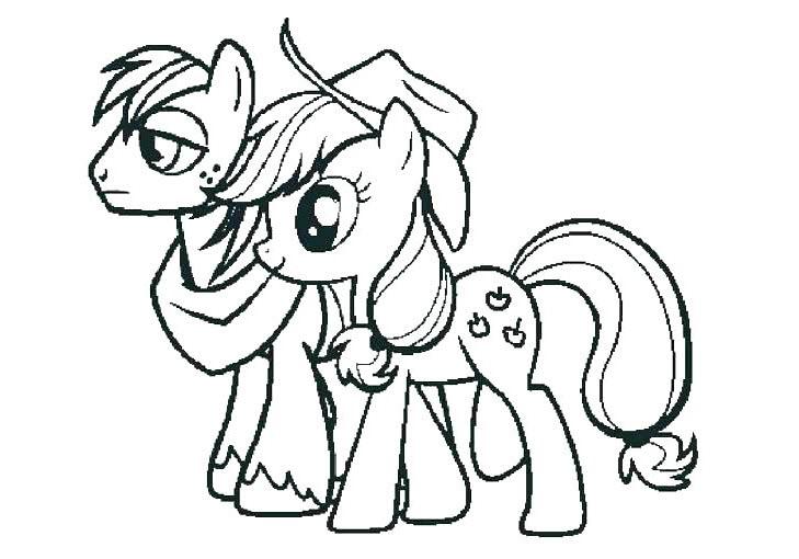 Tải tranh tô màu Pony siêu đáng yêu dành cho bé | Ngựa pony 88