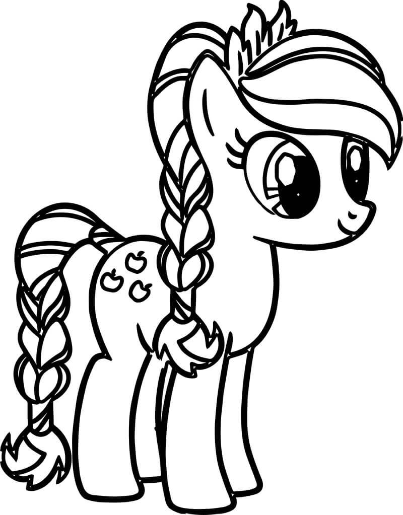 Tải tranh tô màu Pony siêu đáng yêu dành cho bé | Ngựa pony 124