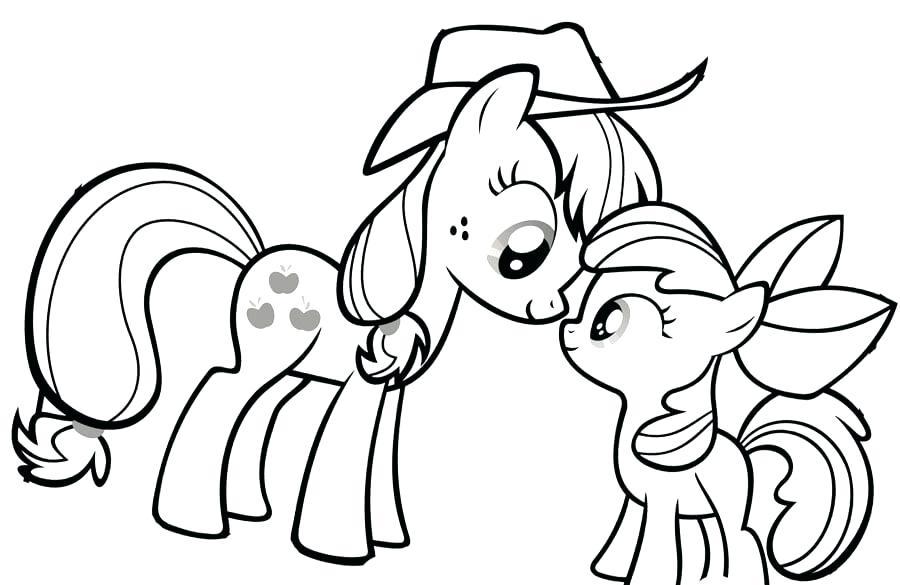 Tải tranh tô màu Pony siêu đáng yêu dành cho bé | Ngựa pony 125