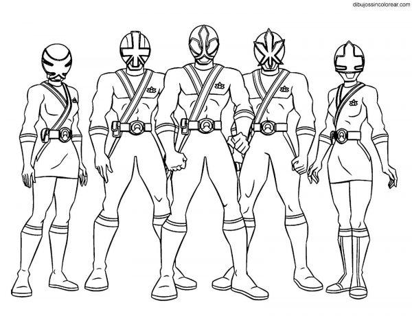 Bộ sưu tập tranh tô màu 5 anh em siêu nhân 11