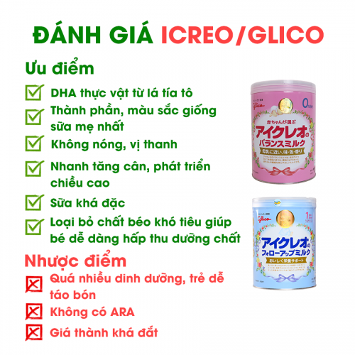 So sánh sữa Meiji và Glico của Nhật cùng ưu nhược điểm 9