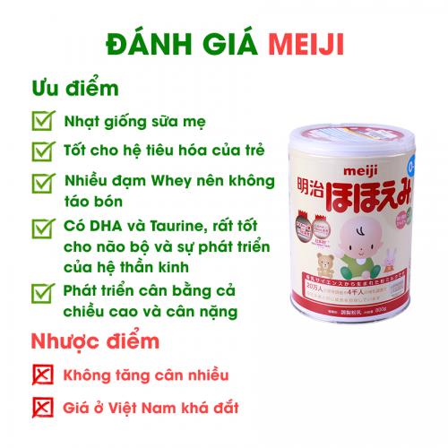 So sánh sữa Meiji và Morinaga ưu nhược điểm thế nào ? 5