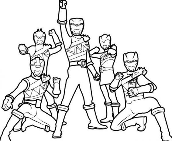 Bộ sưu tập tranh tô màu 5 anh em siêu nhân 15