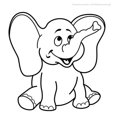 Bộ tranh tô màu con voi siêu ngộ nghĩnh 37