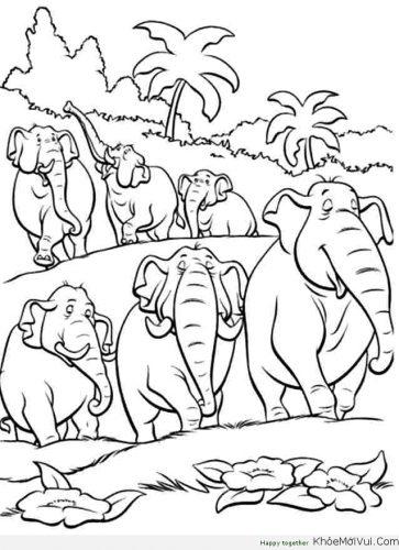 Bộ tranh tô màu con voi siêu ngộ nghĩnh 46