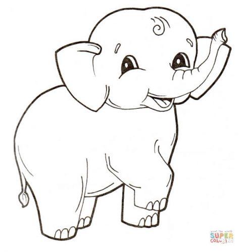 Bộ tranh tô màu con voi siêu ngộ nghĩnh 29
