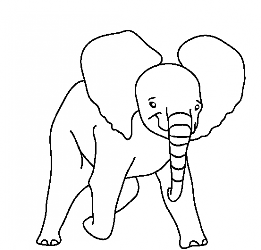 Bộ tranh tô màu con voi siêu ngộ nghĩnh 30