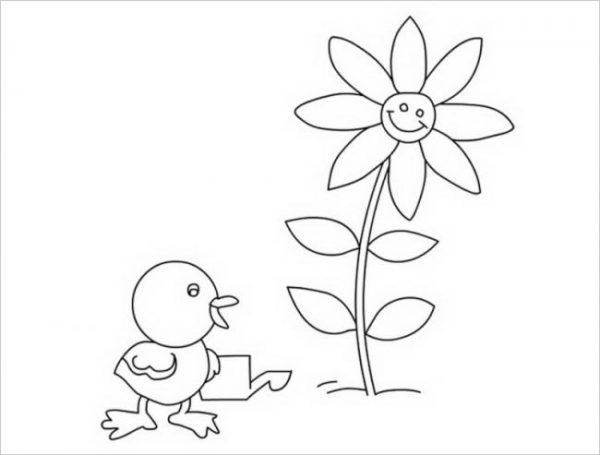 Bộ tranh tô màu con gà đẹp dành cho bé được tải nhiều nhất 6