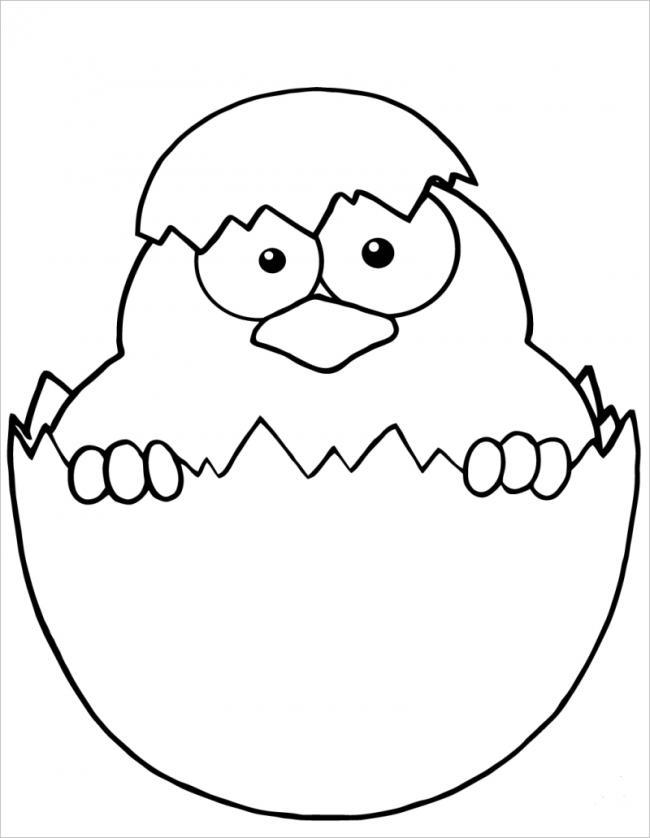 Bộ tranh tô màu con gà đẹp dành cho bé được tải nhiều nhất 8