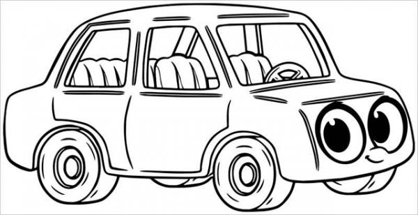 Download tranh tô màu xe ô tô cho bé đẹp nhất hiện nay 21