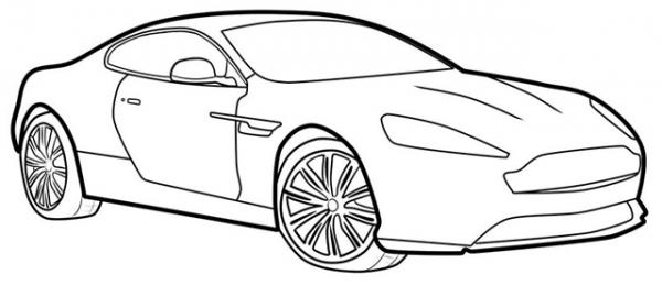 Download tranh tô màu xe ô tô cho bé đẹp nhất hiện nay 22