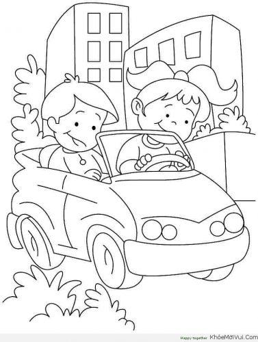 Download tranh tô màu xe ô tô cho bé đẹp nhất hiện nay 26