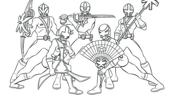 Bộ sưu tập tranh tô màu 5 anh em siêu nhân 20
