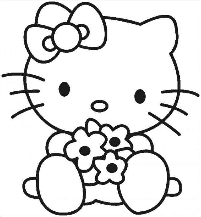 Tuyển tập 15 bức tranh tô màu mèo Hello Kitty cho bé mới nhất! 29