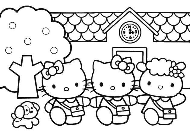 Tuyển tập 15 bức tranh tô màu mèo Hello Kitty cho bé mới nhất! 38