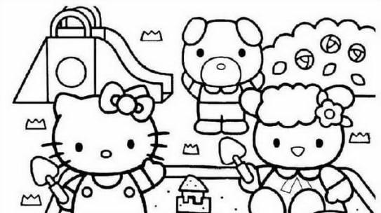 Tuyển tập 15 bức tranh tô màu mèo Hello Kitty cho bé mới nhất!