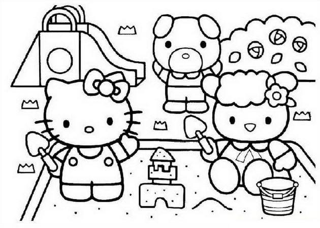 Tuyển tập 15 bức tranh tô màu mèo Hello Kitty cho bé mới nhất! 40
