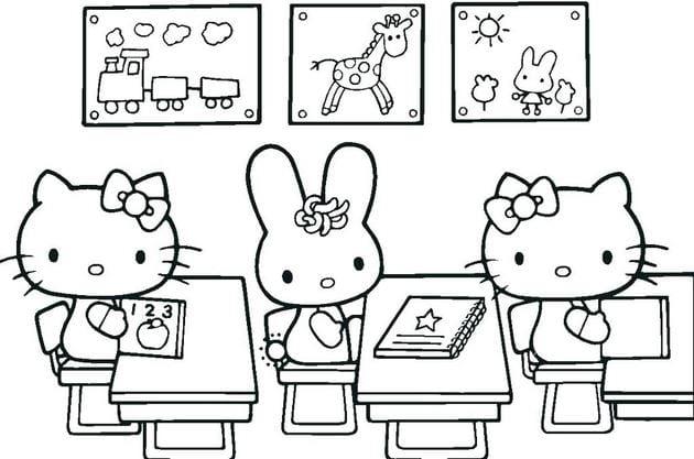 Tuyển tập 15 bức tranh tô màu mèo Hello Kitty cho bé mới nhất! 41
