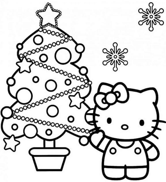 Tuyển tập 15 bức tranh tô màu mèo Hello Kitty cho bé mới nhất! 42