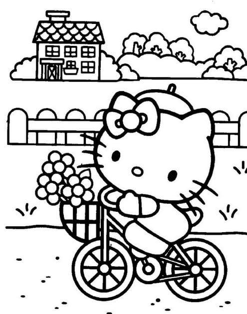 Tuyển tập 15 bức tranh tô màu mèo Hello Kitty cho bé mới nhất! 43