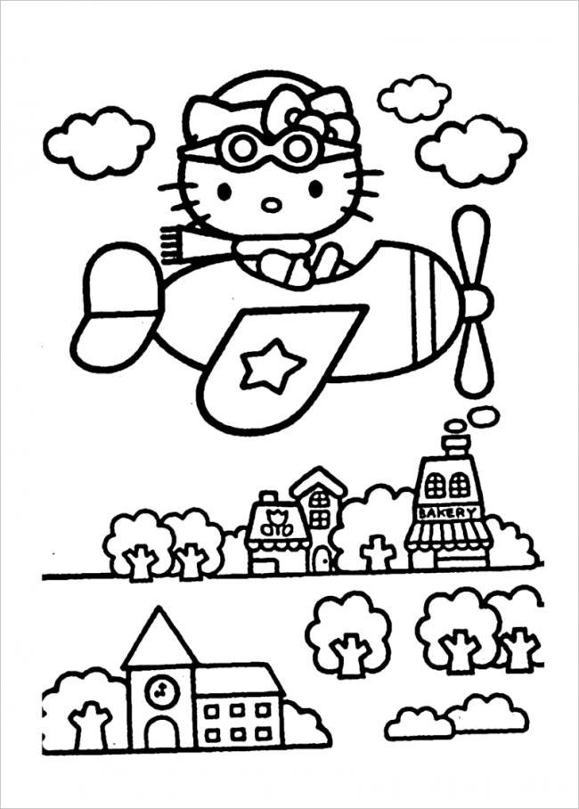Tuyển tập 15 bức tranh tô màu mèo Hello Kitty cho bé mới nhất! 31