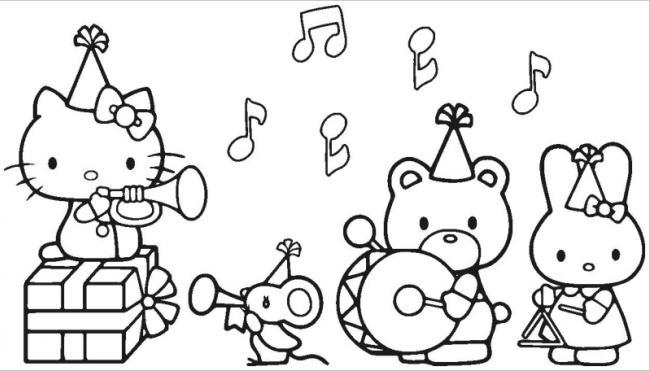 Tuyển tập 15 bức tranh tô màu mèo Hello Kitty cho bé mới nhất! 32