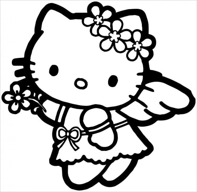 Tuyển tập 15 bức tranh tô màu mèo Hello Kitty cho bé mới nhất! 33