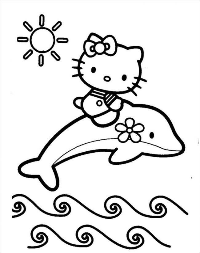 Tuyển tập 15 bức tranh tô màu mèo Hello Kitty cho bé mới nhất! 34