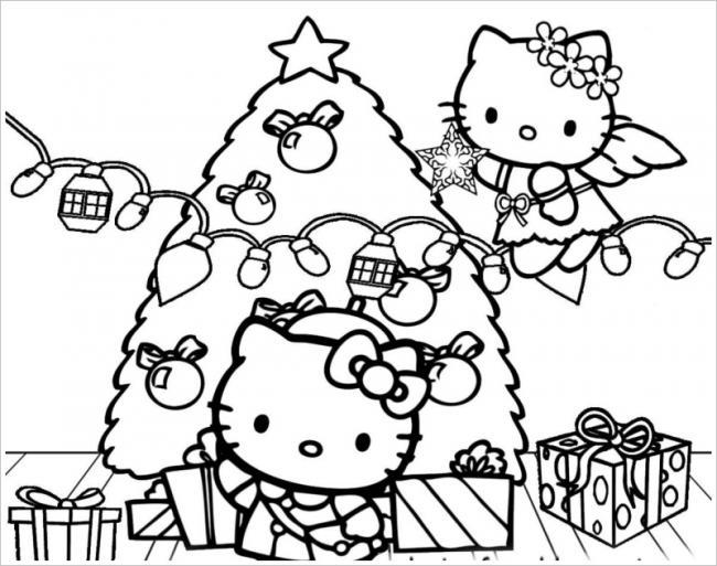 Tuyển tập 15 bức tranh tô màu mèo Hello Kitty cho bé mới nhất! 35