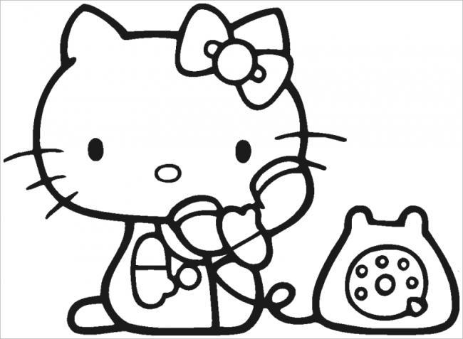 Tuyển tập 15 bức tranh tô màu mèo Hello Kitty cho bé mới nhất! 36