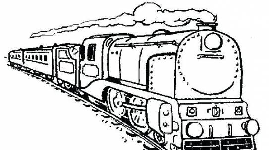 Bộ sưu tập tranh tô màu tàu hỏa đẹp dành cho bé