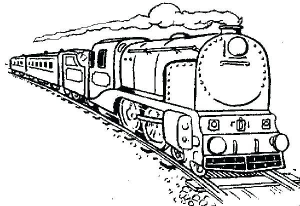 Bộ sưu tập tranh tô màu tàu hỏa đẹp dành cho bé 29