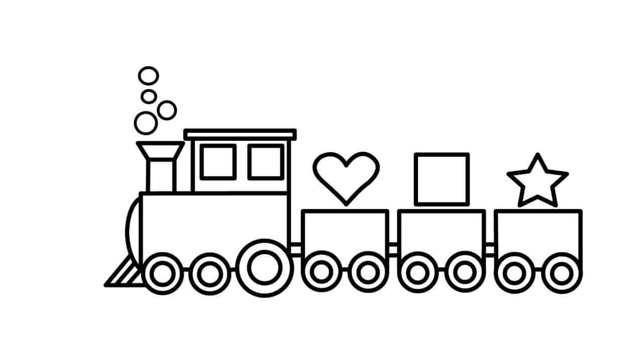 Bộ sưu tập tranh tô màu tàu hỏa đẹp dành cho bé 26