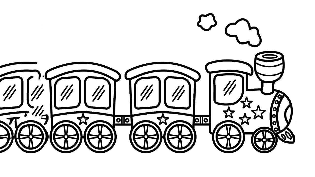 Bộ sưu tập tranh tô màu tàu hỏa đẹp dành cho bé 27