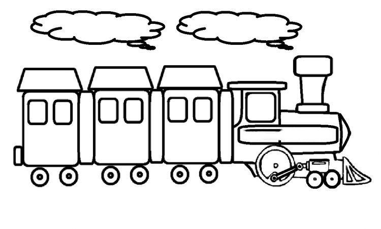 Bộ sưu tập tranh tô màu tàu hỏa đẹp dành cho bé 28
