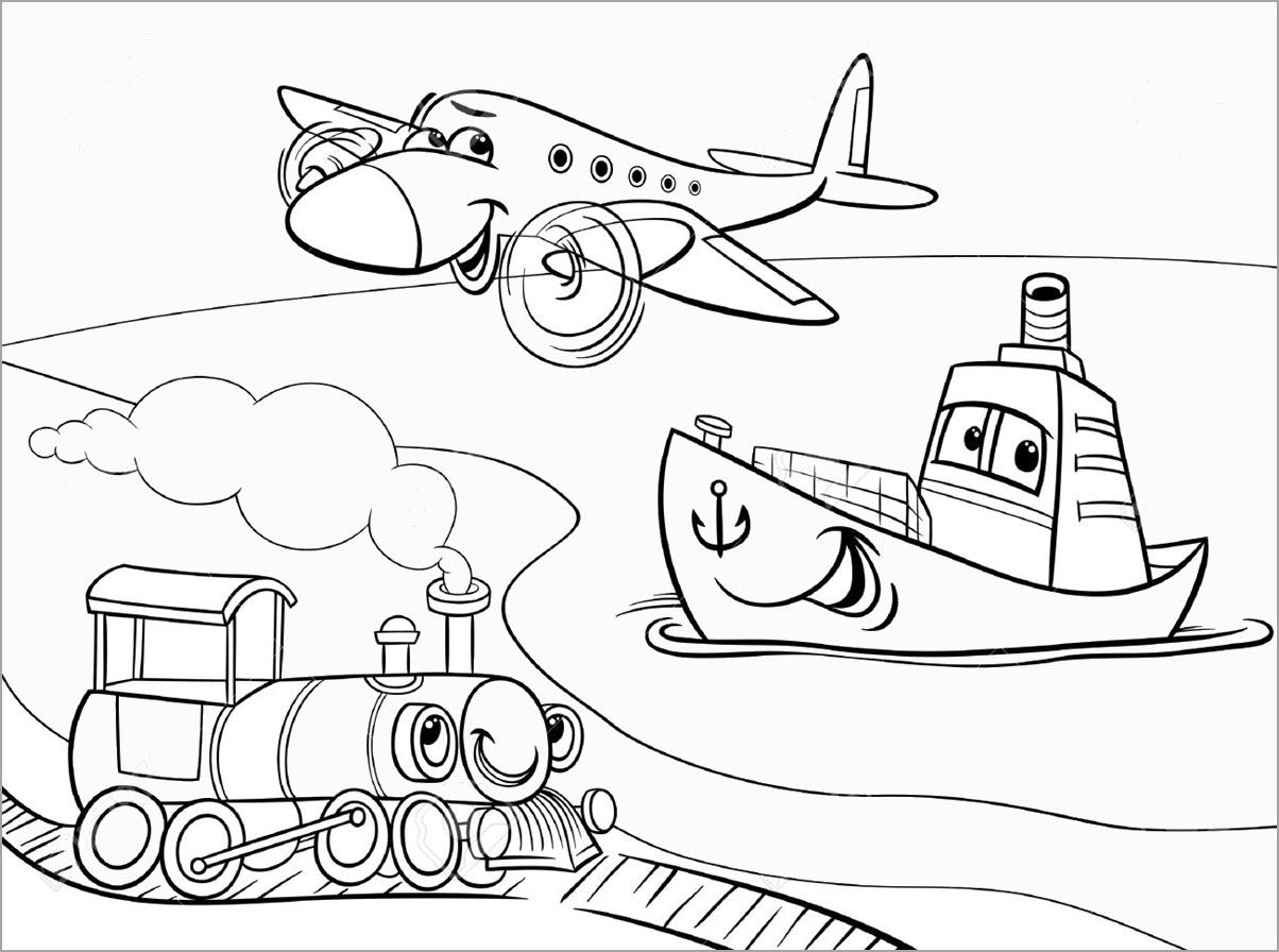 Bộ sưu tập tranh tô màu tàu hỏa đẹp dành cho bé 24