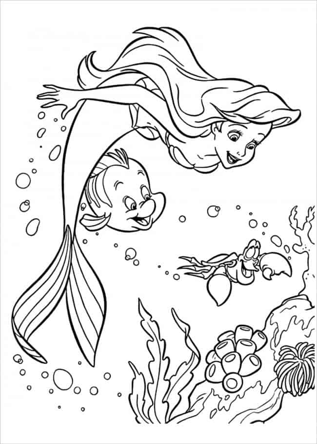 Download tranh tô màu nàng tiên cá được tải nhiều nhất 15