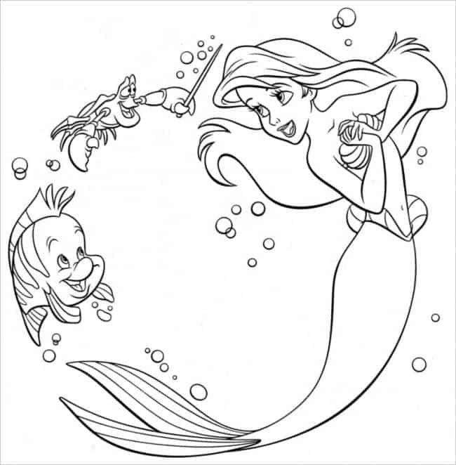 Download tranh tô màu nàng tiên cá được tải nhiều nhất 21