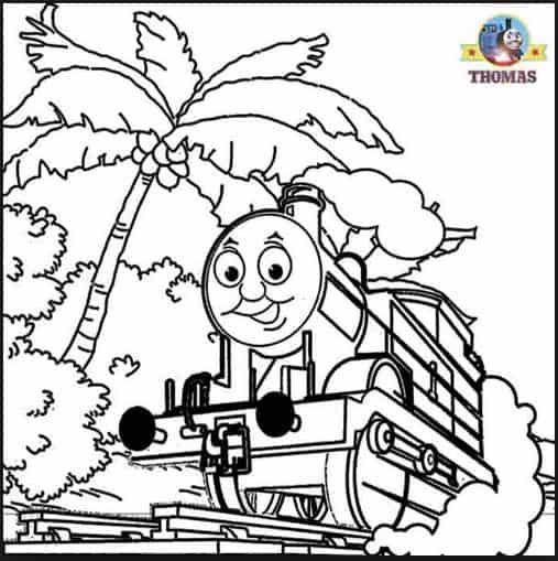 Bộ sưu tập tranh tô màu tàu hỏa đẹp dành cho bé 25