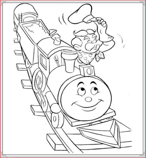 Bộ sưu tập tranh tô màu tàu hỏa đẹp dành cho bé 39