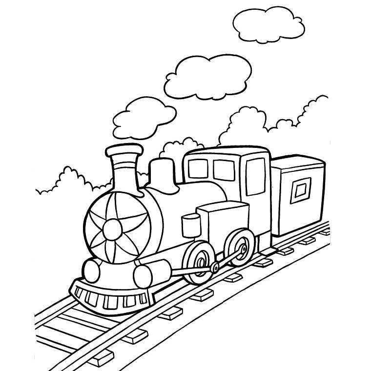 Bộ sưu tập tranh tô màu tàu hỏa đẹp dành cho bé 33