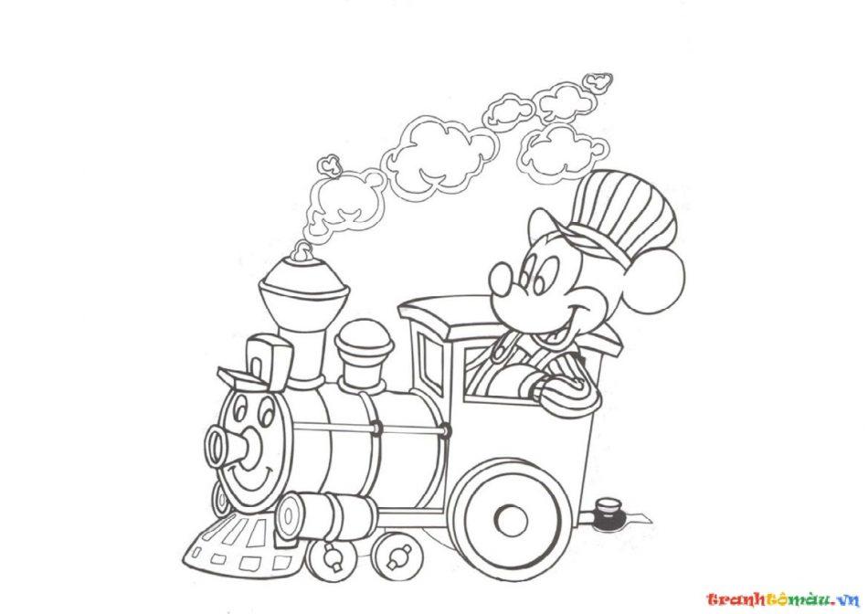 Bộ sưu tập tranh tô màu tàu hỏa đẹp dành cho bé 34