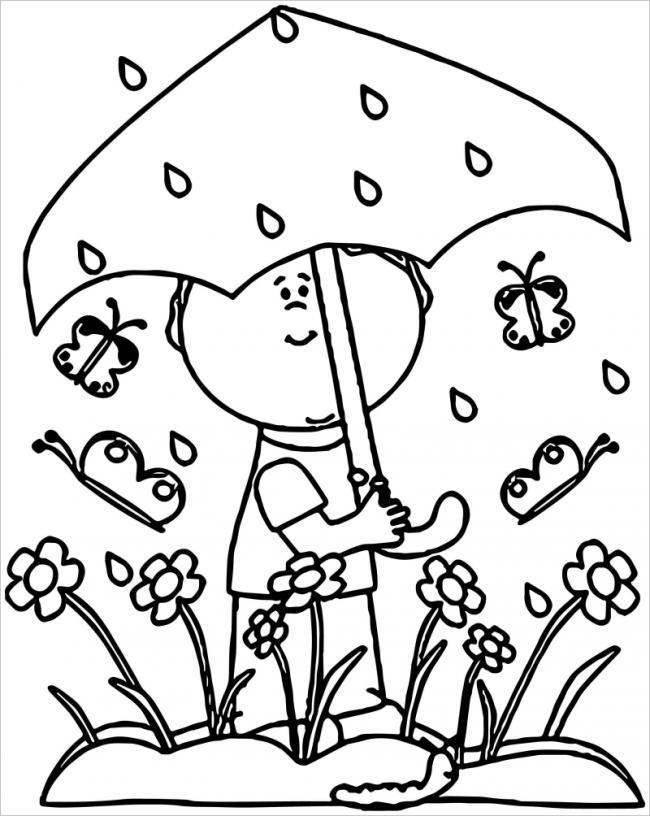 Bố sưu tập tranh tô màu cái ô xinh chó bé siêu đẹp 17